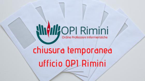 Chiusura temporanea al pubblico dell'ufficio OPI Rimini