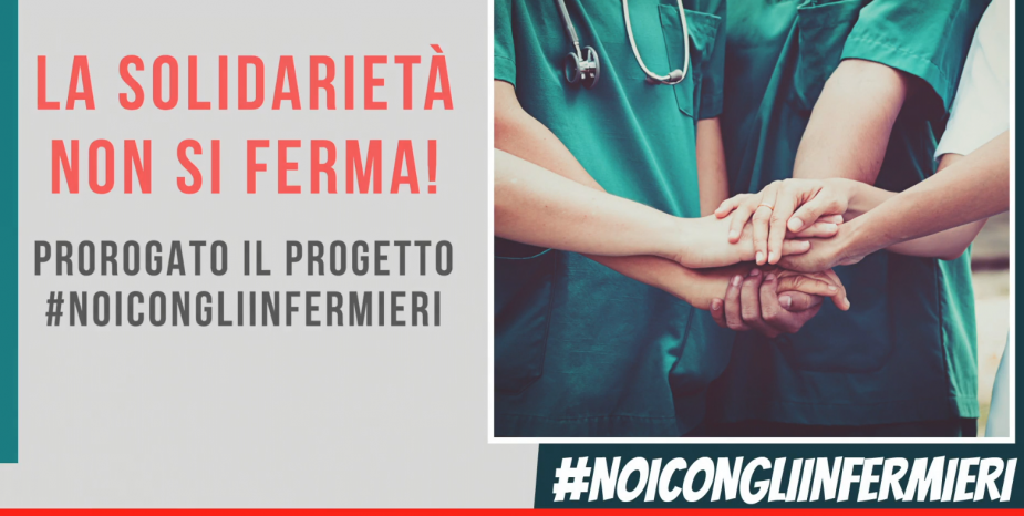 Fondo #NoiConGliInfermieri, la solidarietà non si ferma