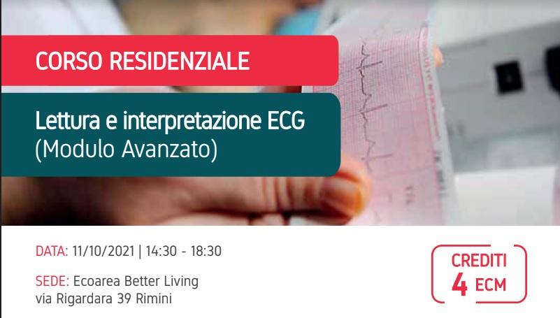 11/10/21 – Corso residenziale teorico-pratico di lettura e interpretazione dell'Elettrocardiogramma (Modulo Avanzato)